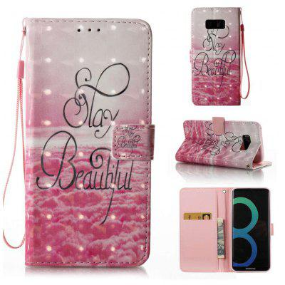 Buy PINK 3D Painted Pu Phone Case for Samsung Galaxy S8 Plus for $5.56 in GearBest store