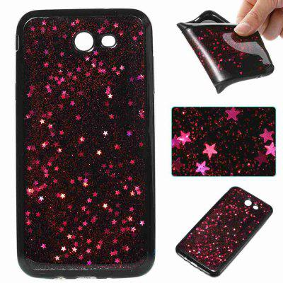 Black Five-Pointed Star Painted Dijiao Tpu Phone Case for Samsung Galaxy J7 2017