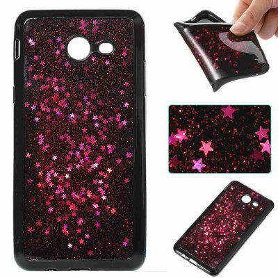 Black Five-Pointed Star Painted Dijiao Tpu Phone Case for Samsung Galaxy J5 2017