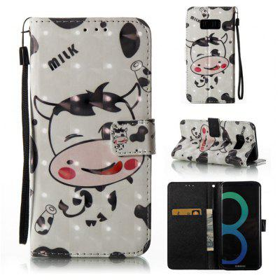 3D Painted Pu Phone Case for Samsung Galaxy S8
