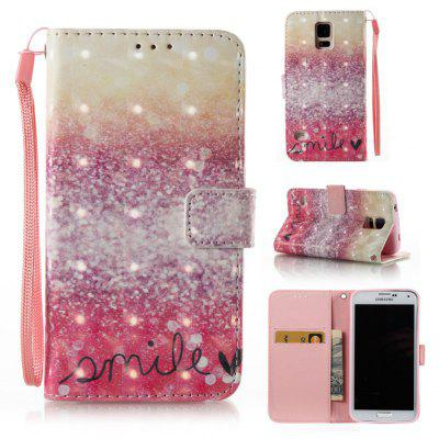 Buy GOLD AND PINK 3D Painted Pu Phone Case for Samsung Galaxy S5 for $5.52 in GearBest store
