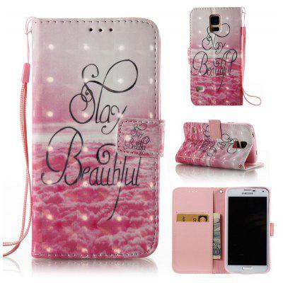 Buy PINK 3D Painted Pu Phone Case for Samsung Galaxy S5 for $5.52 in GearBest store