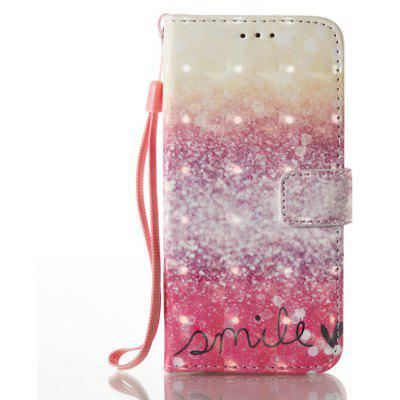 Buy GOLD AND PINK 3D Painted Pu Phone Case for Samsung Galaxy S6 for $5.49 in GearBest store