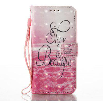 Buy PINK 3D Painted Pu Phone Case for Samsung Galaxy S6 for $5.49 in GearBest store