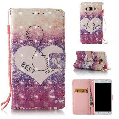 3D Painted Pu Phone Case for Samsung Galaxy J5 2016