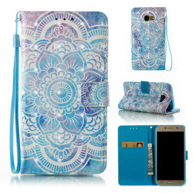 Buy BLUE 3D Painted Pu Phone Case for Samsung Galaxy A5 2017 for $5.53 in GearBest store