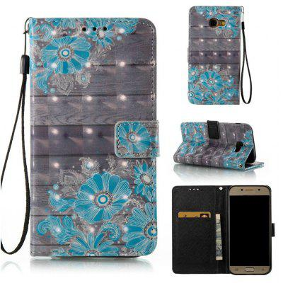 Buy WINDSOR BLUE 3D Painted Pu Phone Case for Samsung Galaxy A5 2017 for $5.53 in GearBest store