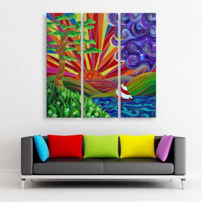 Yc Special Design Frameless Paintings Sunny with Rain of 3