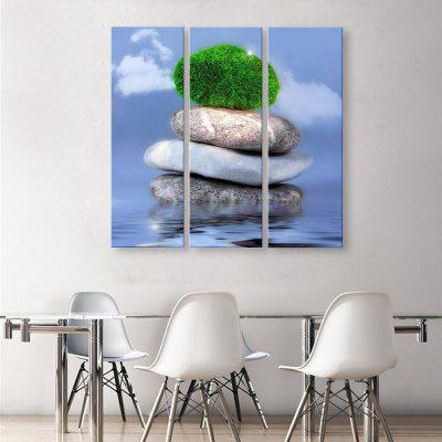 yc Special Design Frameless Paintings with A Green of 3