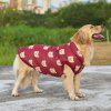 Pet Dog Clothes Bear Pattern Red Jacket - RED
