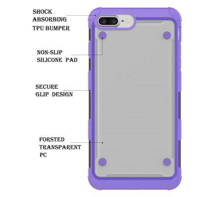 Hybrid Heavy Duty Tpu Bumper Shockproof Protective Case with Dual Layer for Iphone 7 PlusiPhone Cases/Covers<br>Hybrid Heavy Duty Tpu Bumper Shockproof Protective Case with Dual Layer for Iphone 7 Plus<br><br>Features: Anti-knock<br>Material: TPU, PC<br>Package Contents: 1 x Phone Case<br>Package size (L x W x H): 18.00 x 13.00 x 3.00 cm / 7.09 x 5.12 x 1.18 inches<br>Package weight: 0.0800 kg<br>Style: Mixed Color, Transparent