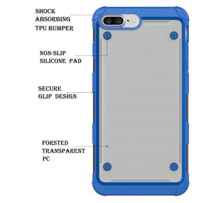Hybrid Heavy Duty Tpu Bumper Shockproof Protective Case with Dual Layer for Iphone 8 PlusiPhone Cases/Covers<br>Hybrid Heavy Duty Tpu Bumper Shockproof Protective Case with Dual Layer for Iphone 8 Plus<br><br>Features: Anti-knock<br>Material: TPU, PC<br>Package Contents: 1 x Phone Case<br>Package size (L x W x H): 18.00 x 13.00 x 3.00 cm / 7.09 x 5.12 x 1.18 inches<br>Package weight: 0.0800 kg<br>Style: Mixed Color, Transparent