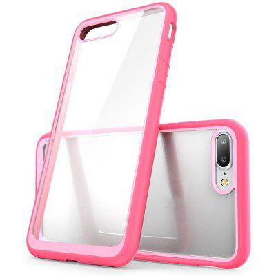 Hybrid Protective Bumper TPU PC Anti-scratch Clear Back Case for iPhone 8 Plus ipaky hybrid pc tpu 2 in 1 case for iphone 6s plus 6 plus black