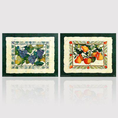 Hx-Art No Frame Canvas Two Sets of Painting Fruit Decorating The Living Room Paintings