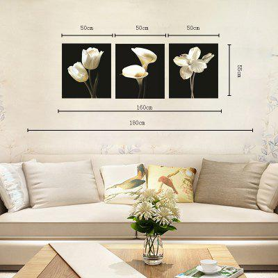 Hx-Art Unframed Canvas Three Sets of Painting White Flowers Decorated The Living Room PaintingsPrints<br>Hx-Art Unframed Canvas Three Sets of Painting White Flowers Decorated The Living Room Paintings<br><br>Brand: Qiaojiahuayuan<br>Craft: Print<br>Form: Three Panels<br>Material: Canvas<br>Package Contents: 3 x Print<br>Package size (L x W x H): 52.00 x 5.00 x 5.00 cm / 20.47 x 1.97 x 1.97 inches<br>Package weight: 0.3700 kg<br>Painting: Without Inner Frame<br>Shape: Vertical Panoramic<br>Style: Brief, Beads<br>Subjects: Still Life<br>Suitable Space: Living Room,Bedroom,Dining Room,Office,Kids Room