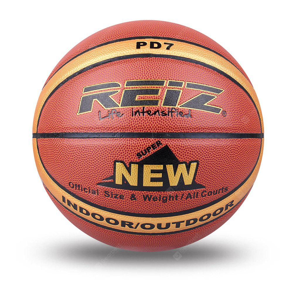 Reiz 986 Outdoor Basketball Pu Leather 7 Non-Slip Wear-Resistant Ball Basquete with Free Gift Net Needle