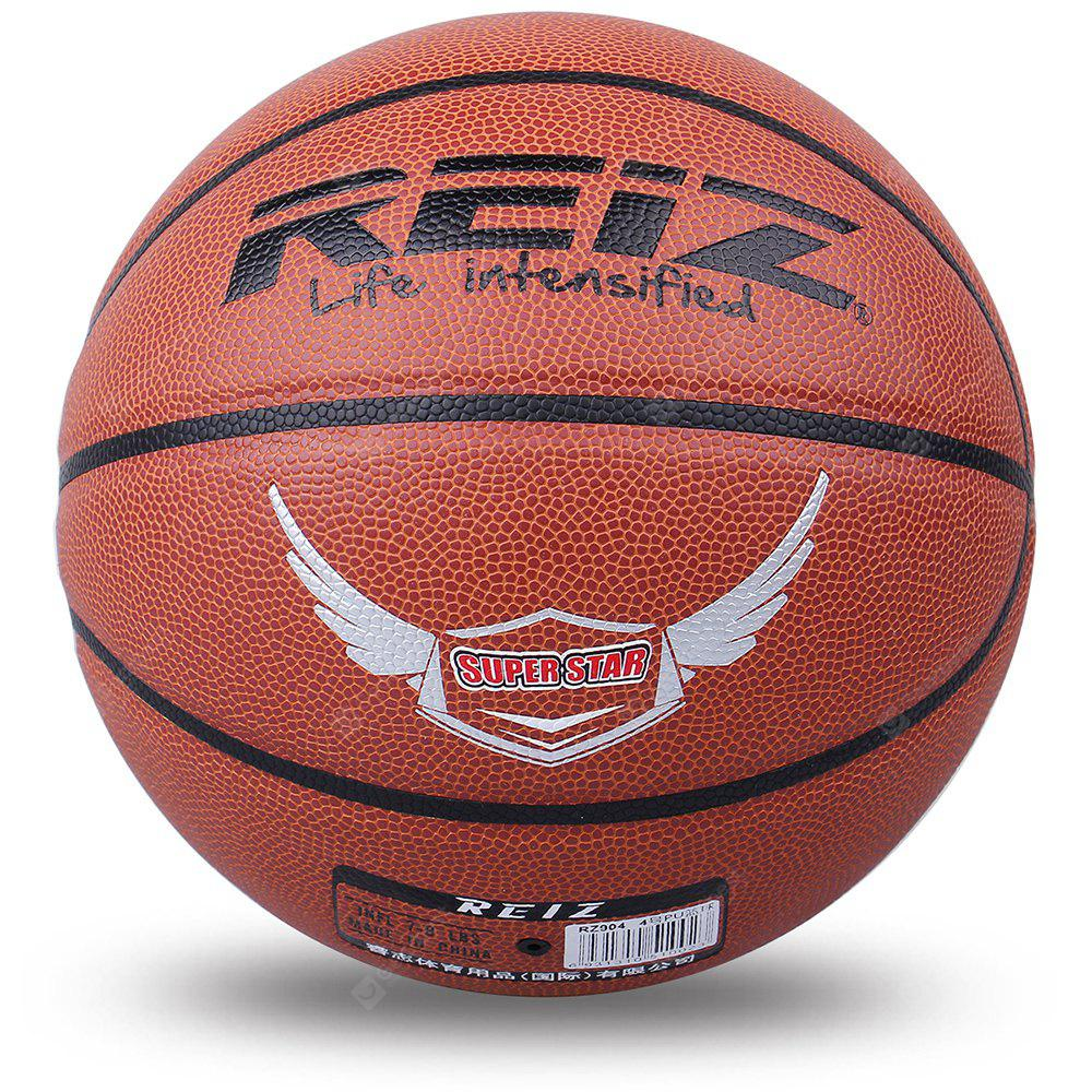 Reiz 904 Outdoor Basketball Pu Leather 4 Non-Slip Wear-Resistant Ball Basquete with Free Gift Net Needle