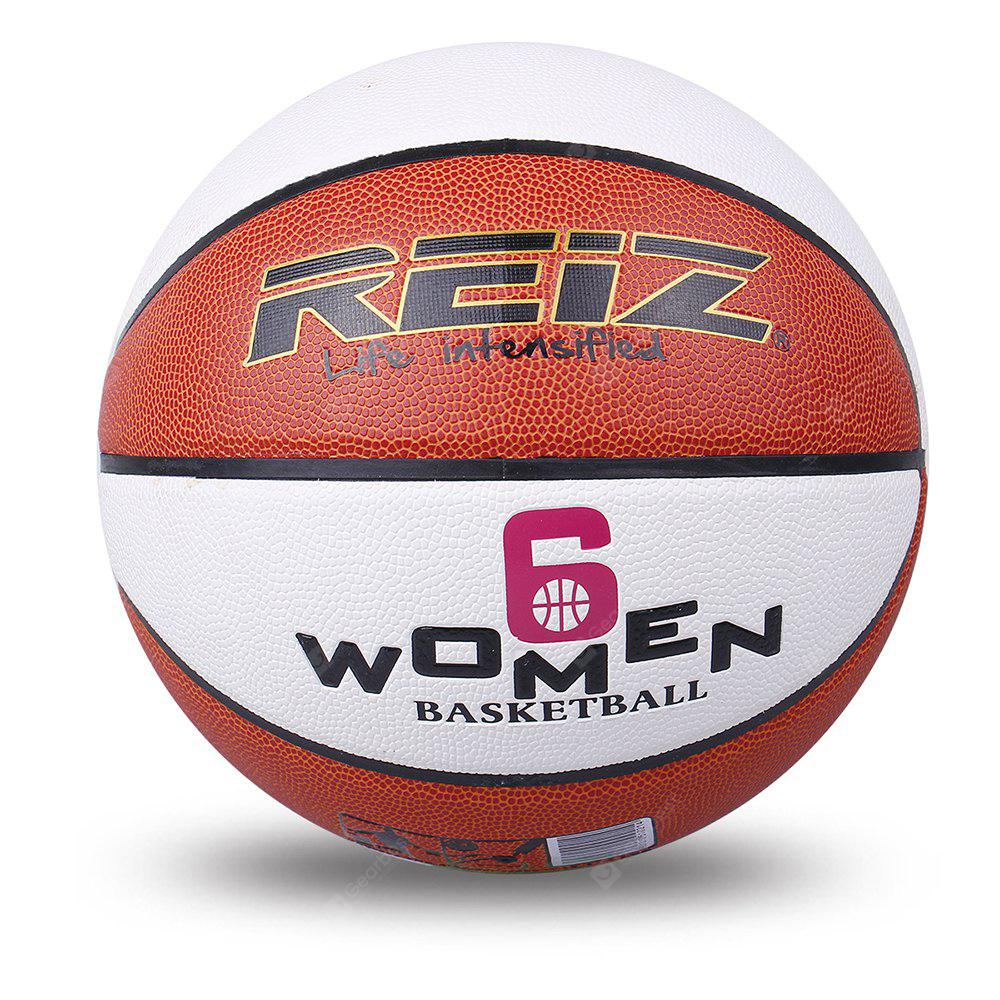 Reiz 901 Outdoor Basketball Pu Leather Non-Slip Wear-Resistant Ball Basquete with Free Gift Net Needle