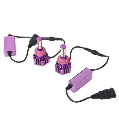 Pair of H11 Car Led Headlight Cob Built-In DecodingCar Lights<br>Pair of H11 Car Led Headlight Cob Built-In Decoding<br><br>Apply lamp position: External Lights<br>Apply To Car Brand: Universal<br>Color temperatures: 6000K<br>Connector: H11<br>Emitting color: White<br>Feature: Waterproof/Dustproof, Power saver, Low Power Consumption, Easy to use, Durable high performance<br>LED Type: COB<br>Light mode: Steady<br>Lumens: 5000LM<br>Material: Aluminum Alloy<br>Package Contents: 2 x Car Led Headlight, 1 x English User Manual<br>Package size (L x W x H): 19.50 x 13.60 x 8.30 cm / 7.68 x 5.35 x 3.27 inches<br>Package weight: 0.5162 kg<br>Power: 30W<br>Type: Head Lamp, Fog Lights, Car LED<br>Type of lamp-house: LED<br>Voltage: 9 - 32V