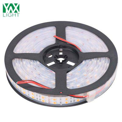 Ywxlight 5M 5050 Waterproof Double Row Led Strip High Quality Flexible Dc 12VLED Strips<br>Ywxlight 5M 5050 Waterproof Double Row Led Strip High Quality Flexible Dc 12V<br><br>Brand: YWXLight<br>CCT/Wavelength: 6000-6500K,2700-3200K<br>Features: Waterproof, IP-67, Dual-row, Low Power Consumption, Flexible<br>Input Voltage: DC 12V<br>LED Type: SMD-5050<br>Length: 5M<br>Material: PCB, Silicone<br>Number of LEDs: 600 LED<br>Optional Light Color: Warm White,Cold White<br>Package Contents: 1 x Ywxlight 5050 Double Row led Strip<br>Package size (L x W x H): 19.00 x 19.00 x 2.50 cm / 7.48 x 7.48 x 0.98 inches<br>Package weight: 0.3280 kg<br>Product size (L x W x H): 500.00 x 2.00 x 0.40 cm / 196.85 x 0.79 x 0.16 inches<br>Product weight: 0.3220 kg<br>Rated Power (W): 100 W<br>SMD: 5050<br>Type: LED Strip<br>Waterproof: Yes