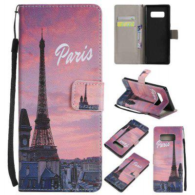 Buy BROWN New Painted Pu Phone Case for Samsung Galaxy Note 8 for $5.24 in GearBest store