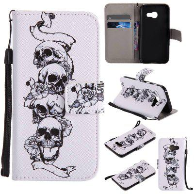 Buy WHITE New Painted Pu Phone Case for Samsung Galaxy A3 2017 for $5.03 in GearBest store