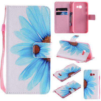 Buy WHITE + BLUE New Painted Pu Phone Case for Samsung Galaxy A5 2017 for $5.14 in GearBest store