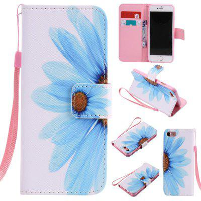 Buy WHITE + BLUE New Painted Pu Phone Case for Iphone 8 / 7 for $4.35 in GearBest store