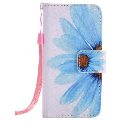 Buy WHITE + BLUE New Painted Pu Phone Case for Iphone Se / 5S / 5 for $4.28 in GearBest store