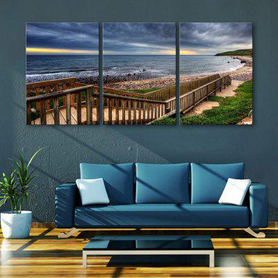 Yc Special Design Frameless Paintings Boardwalk Along The Coast of 3