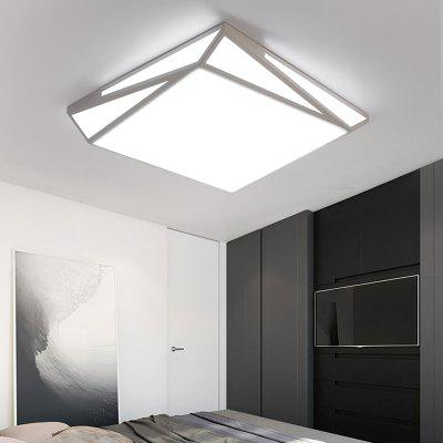Everflower Max 30W Modern Simple Led Flush Mount Ceiling Light for Living Room Bedroom Painted Finish
