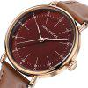 MINI FOCUS Mf0056g 4530 Contracted Dial Male Watch - DARK AUBURN