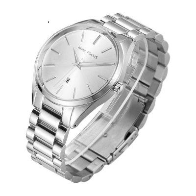 MINI FOCUS Mf0050G 4446 Calendar Display Male WatchMens Watches<br>MINI FOCUS Mf0050G 4446 Calendar Display Male Watch<br><br>Band material: Fine steel<br>Band size: 23.9 x 2cm<br>Brand: MINI FOCUS<br>Case material: Alloy<br>Clasp type: Sheet folding clasp<br>Dial size: 4.4 x 4.4 x 1.09cm<br>Movement type: Quartz watch<br>Package Contents: 1 x Watch, 1 x Watch Box<br>Package size (L x W x H): 28.00 x 8.00 x 3.50 cm / 11.02 x 3.15 x 1.38 inches<br>Package weight: 0.1550 kg<br>Product size (L x W x H): 23.90 x 4.40 x 1.09 cm / 9.41 x 1.73 x 0.43 inches<br>Product weight: 0.1250 kg<br>Shape of the dial: Round<br>Watch style: Fashion, Trends in outdoor sports, Business, Casual<br>Watches categories: Men