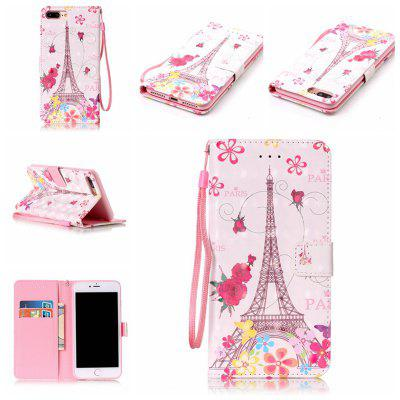 Butterfly Tower3d Painted Pu Phone Case for Iphone 8 Plus / 7 Plus