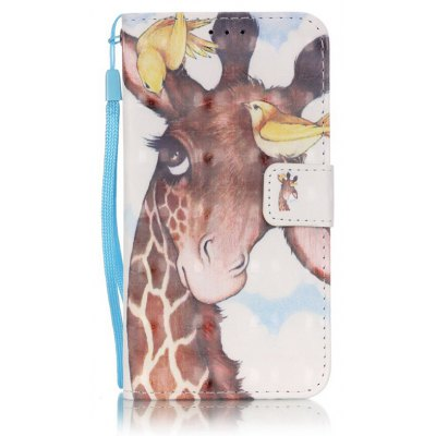 Buy BROWN New 3D Painted Pu Phone Case for Samsung Galaxy S5 for $5.40 in GearBest store