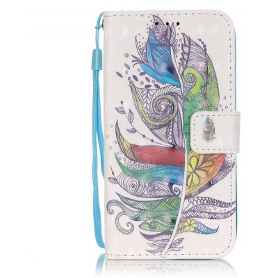 Buy COLORMIX New 3D Painted Pu Phone Case for Samsung Galaxy S4 for $5.28 in GearBest store