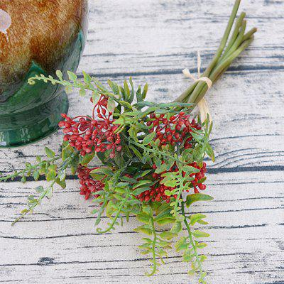 6 Branch Simulation Red Loose Fern Fruit Home Decoration Artificial Flower