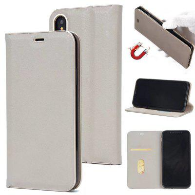 Wkae Beautiful Elegant Magnetic Closure Pu Leather Protective Cover Case with Kickstand And Card Slot for Iphone x
