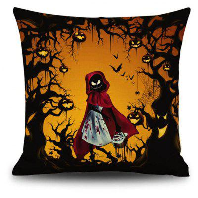 Buy Halloween Little Red Riding Hood Square Linen Decorative Throw Pillow Case Kawaii Cushion Cover, COLORMIX, Home & Garden, Home Textile, Bedding, Pillow for $9.00 in GearBest store