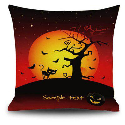 Buy Halloween Night Cushion Cover Black Cat Old Oak Tree Square Linen Decorative Throw Pillow Case, COLORMIX, Home & Garden, Home Textile, Bedding, Pillow for $9.00 in GearBest store