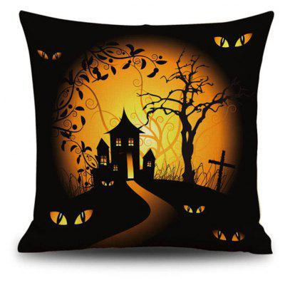 Buy Halloween Night Cushion Cover Cabin Tree Square Linen Decorative Throw Pillow Case, COLORMIX, Home & Garden, Home Textile, Bedding, Pillow for $9.00 in GearBest store