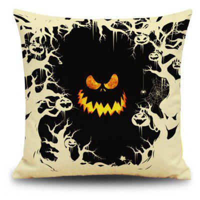Buy Halloween Pumpkin Devil Square Linen Decorative Throw Pillow Case Cushion Cover, COLORMIX, Home & Garden, Home Textile, Bedding, Pillow for $9.00 in GearBest store