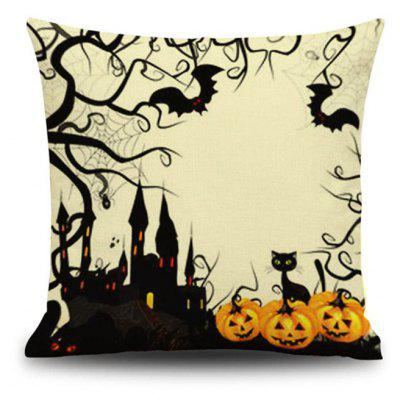 Buy Halloween Pumpkin Castle Square Linen Decorative Throw Pillow Case Cushion Cover, COLORMIX, Home & Garden, Home Textile, Bedding, Pillow for $9.00 in GearBest store
