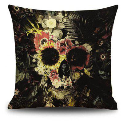 Halloween Flowers skull Head Linen Decorative Throw Pillow Case Cushion Cover Romantic Horror