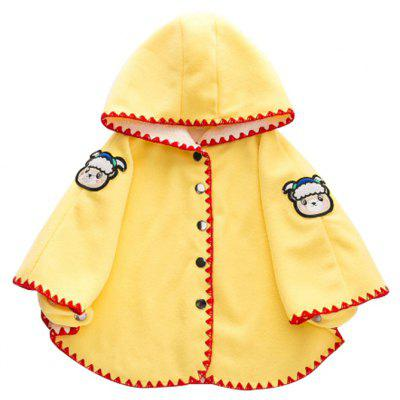 2017 Autumn Winter New Baby Red Girls Out Clothes Cloak
