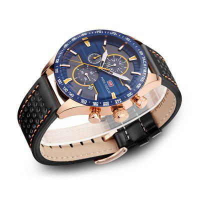 MINI FOCUS Mf0002G-04 4374 Leisure Sports Male WatchMens Watches<br>MINI FOCUS Mf0002G-04 4374 Leisure Sports Male Watch<br><br>Band material: Leather<br>Band size: 21 x 2.2cm<br>Brand: MINI FOCUS<br>Case material: Alloy<br>Clasp type: Pin buckle<br>Dial size: 4.6 x 4.6 x 1.29cm<br>Display type: Analog<br>Movement type: Quartz watch<br>Package Contents: 1 x Watch, 1 x Watch box<br>Package size (L x W x H): 28.00 x 8.00 x 3.50 cm / 11.02 x 3.15 x 1.38 inches<br>Package weight: 0.0950 kg<br>Product size (L x W x H): 21.00 x 4.60 x 1.29 cm / 8.27 x 1.81 x 0.51 inches<br>Product weight: 0.0650 kg<br>Shape of the dial: Round<br>Watch mirror: Mineral glass<br>Watch style: Fashion, Outdoor Sports, Business, Casual<br>Watches categories: Men<br>Water resistance: 30 meters