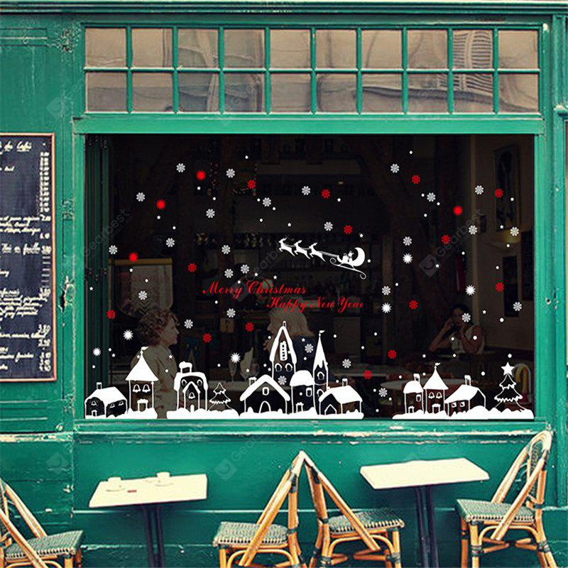 COLORFUL New Style Snow Christmas Decoration Creative window wall Stickers