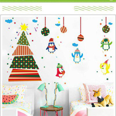 Creative Christmas Tree Penguin Cartoon Decoration Window Wall StickersWall Stickers<br>Creative Christmas Tree Penguin Cartoon Decoration Window Wall Stickers<br><br>Art Style: Plane Wall Stickers, Toilet Stickers<br>Function: Decorative Wall Sticker<br>Material: Vinyl(PVC)<br>Package Contents: 1 x Wall Sticker<br>Package size (L x W x H): 60.00 x 5.00 x 5.00 cm / 23.62 x 1.97 x 1.97 inches<br>Package weight: 0.2000 kg<br>Product size (L x W x H): 90.00 x 60.00 x 0.30 cm / 35.43 x 23.62 x 0.12 inches<br>Product weight: 0.1800 kg<br>Quantity: 1<br>Sizes: 60 x 90cm<br>Subjects: Holiday,Cartoon,Christmas<br>Suitable Space: Living Room,Bedroom,Office,Kids Room,Kitchen,Kids Room,Boys Room,Girls Room<br>Type: Plane Wall Sticker