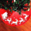 New Style Elk Print Tree Skirt Christmas Decorations - RED