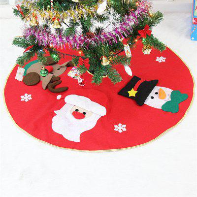 Fashion 3D Santa Claus Elk Embroidery Tree Dress Christmas Decoration